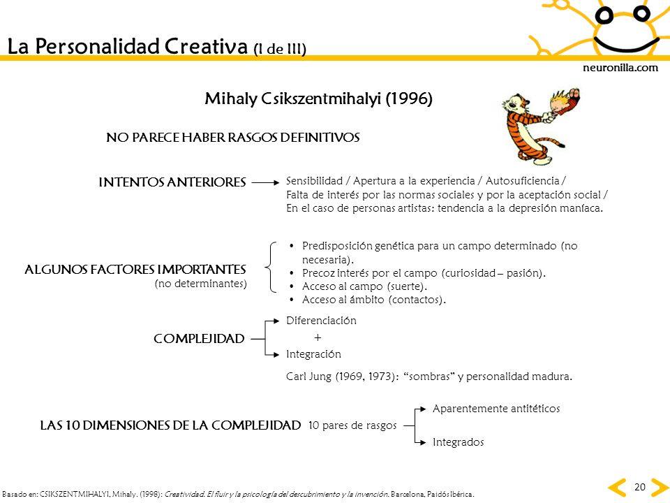 La Personalidad Creativa (I de III)