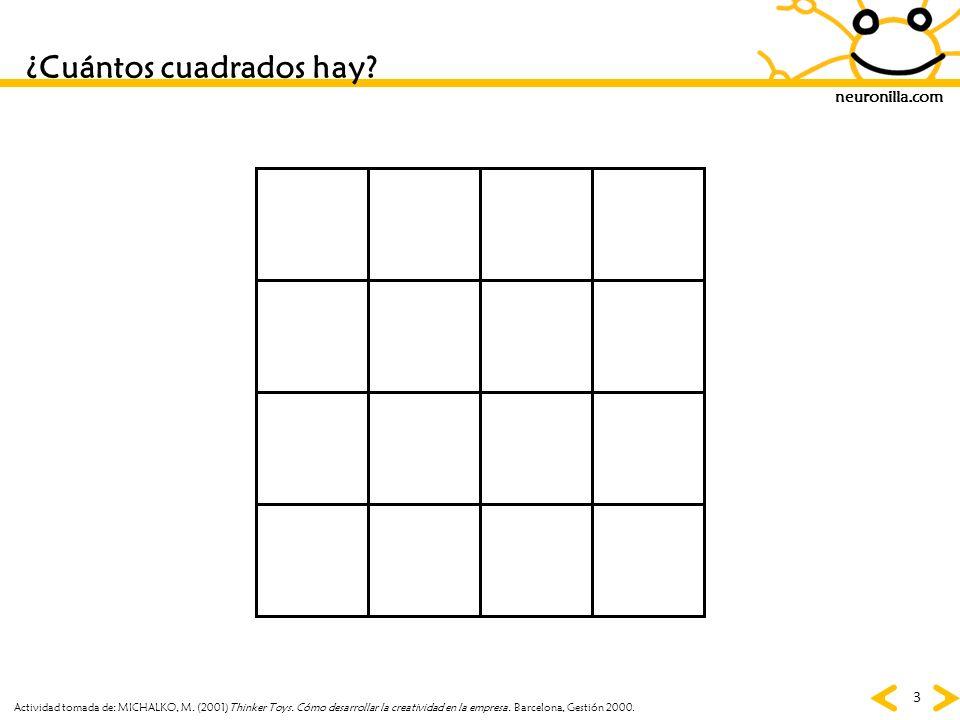 ¿Cuántos cuadrados hay