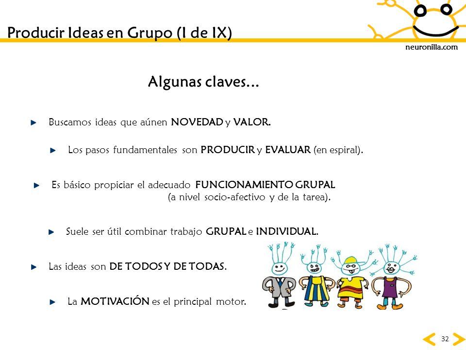 Producir Ideas en Grupo (I de IX)