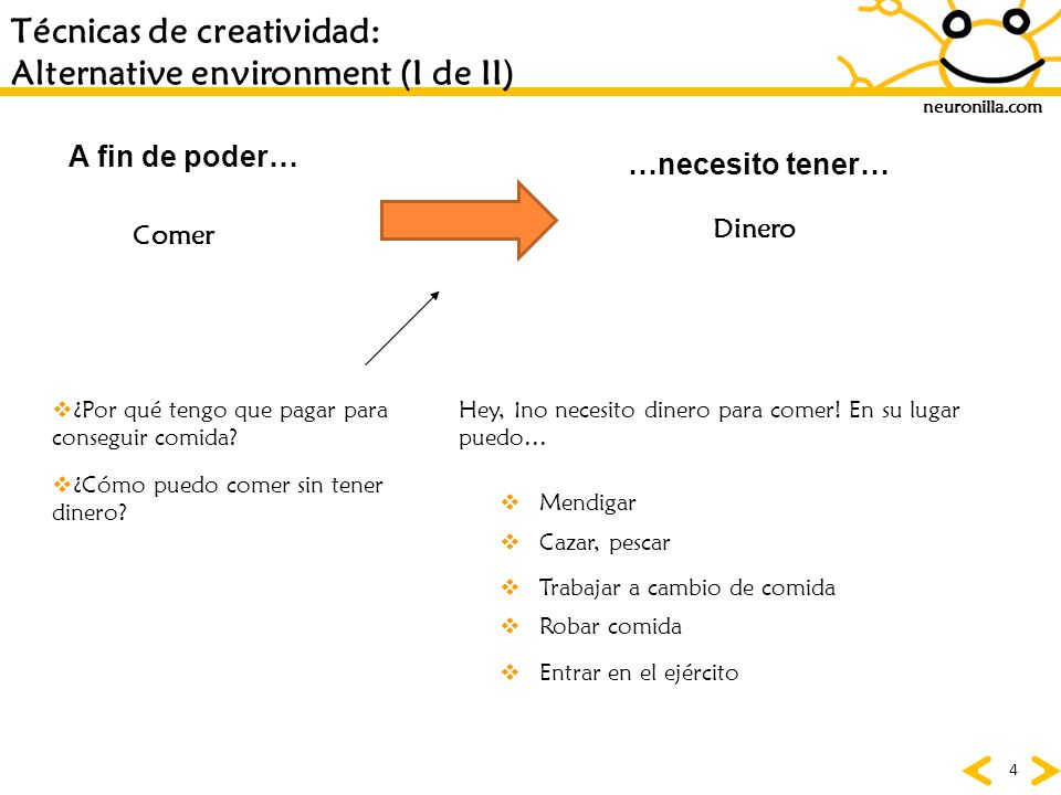 Técnicas de creatividad: Alternative environment (I de II)