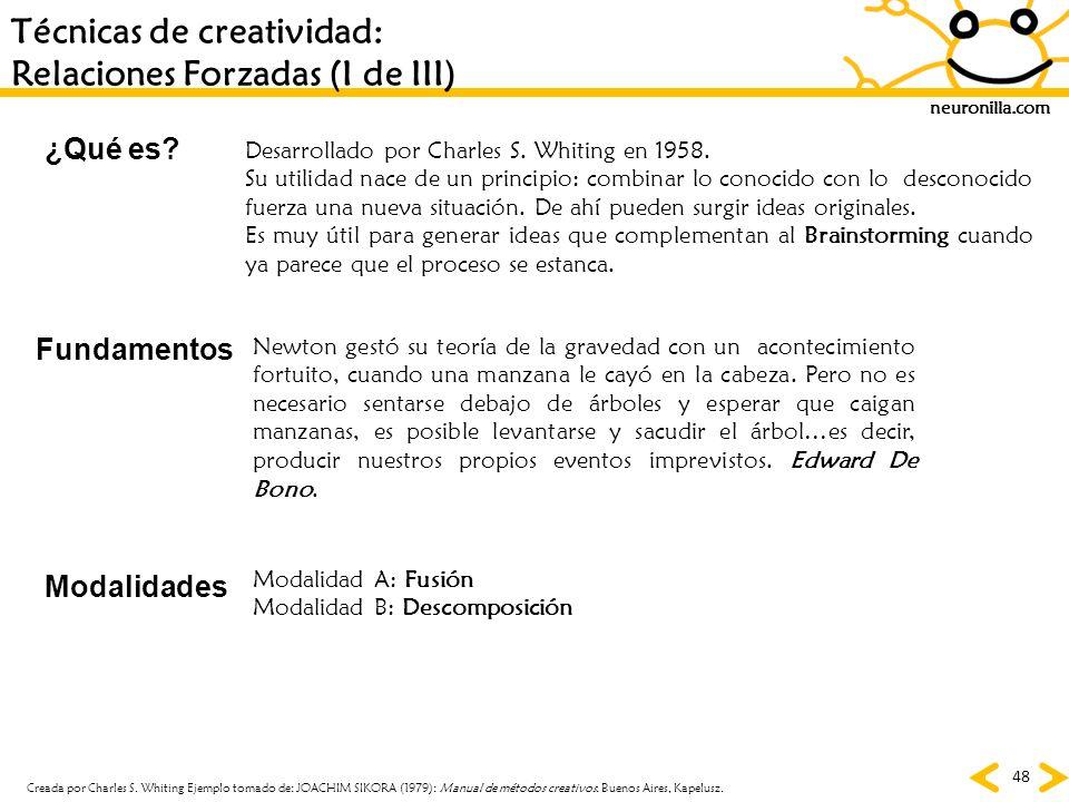 Técnicas de creatividad: Relaciones Forzadas (I de III)