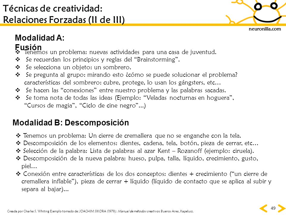 Técnicas de creatividad: Relaciones Forzadas (II de III)