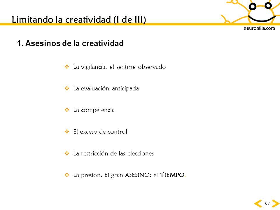 Limitando la creatividad (I de III)