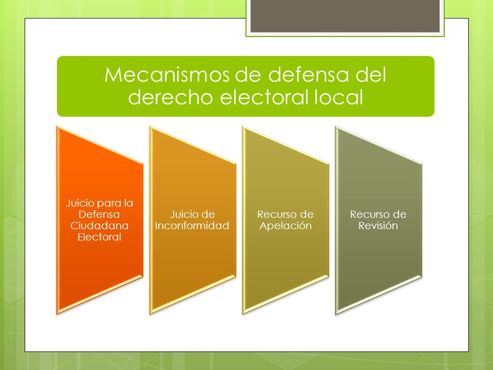 Mecanismos de defensa del derecho electoral local