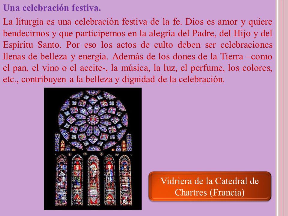 Vidriera de la Catedral de Chartres (Francia)