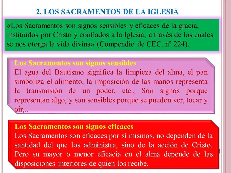 2. LOS SACRAMENTOS DE LA IGLESIA