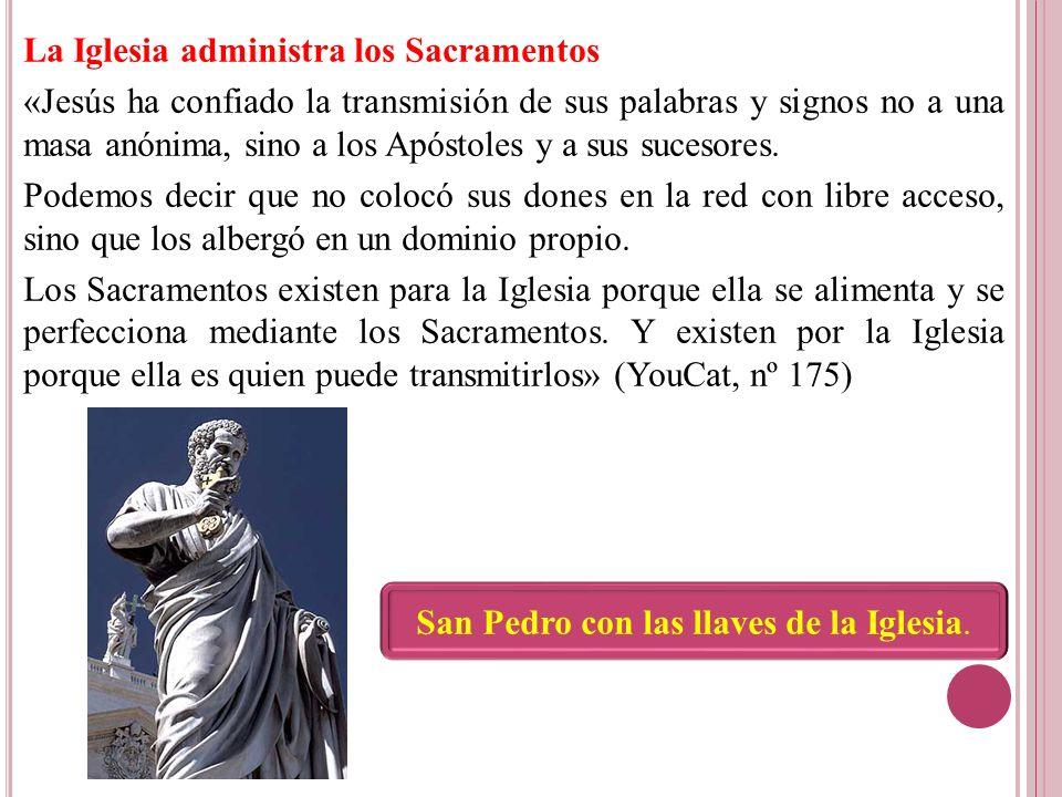 San Pedro con las llaves de la Iglesia.