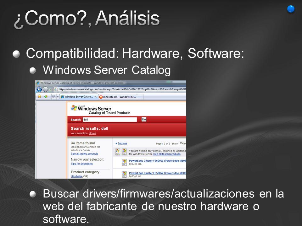 ¿Como , Análisis Compatibilidad: Hardware, Software: