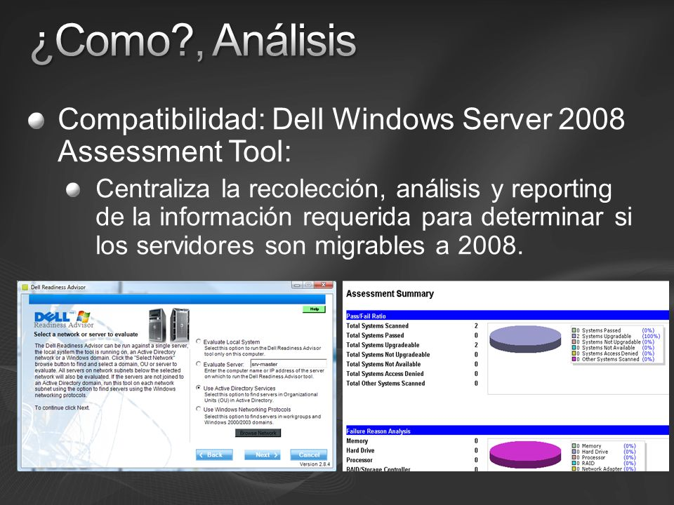 ¿Como , Análisis Compatibilidad: Dell Windows Server 2008 Assessment Tool:
