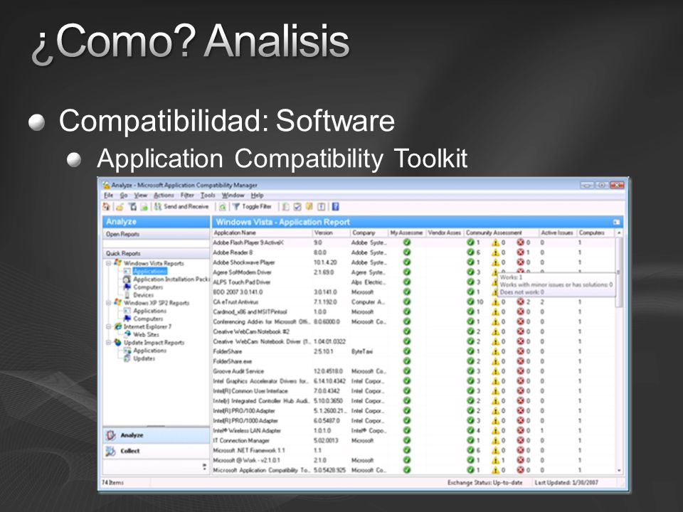 ¿Como Analisis Compatibilidad: Software