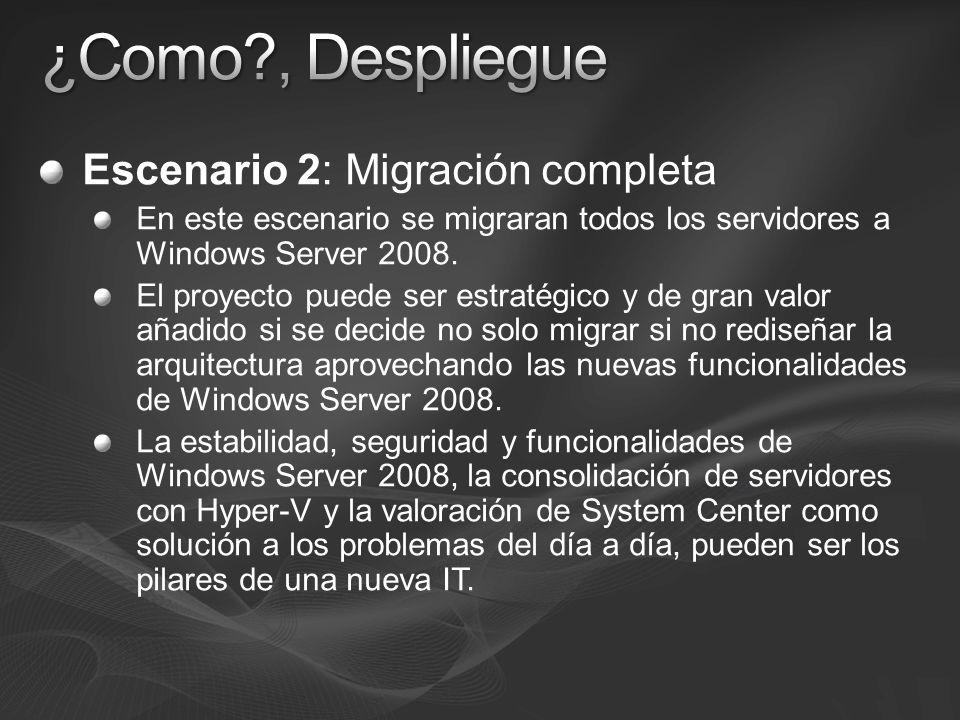 ¿Como , Despliegue Escenario 2: Migración completa
