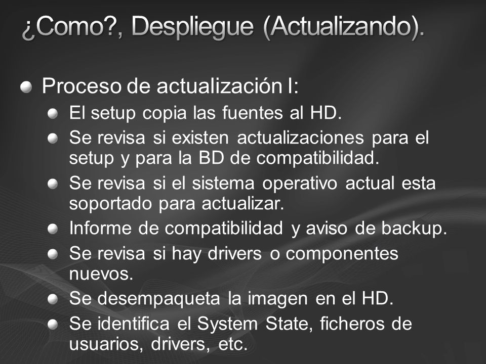 ¿Como , Despliegue (Actualizando).