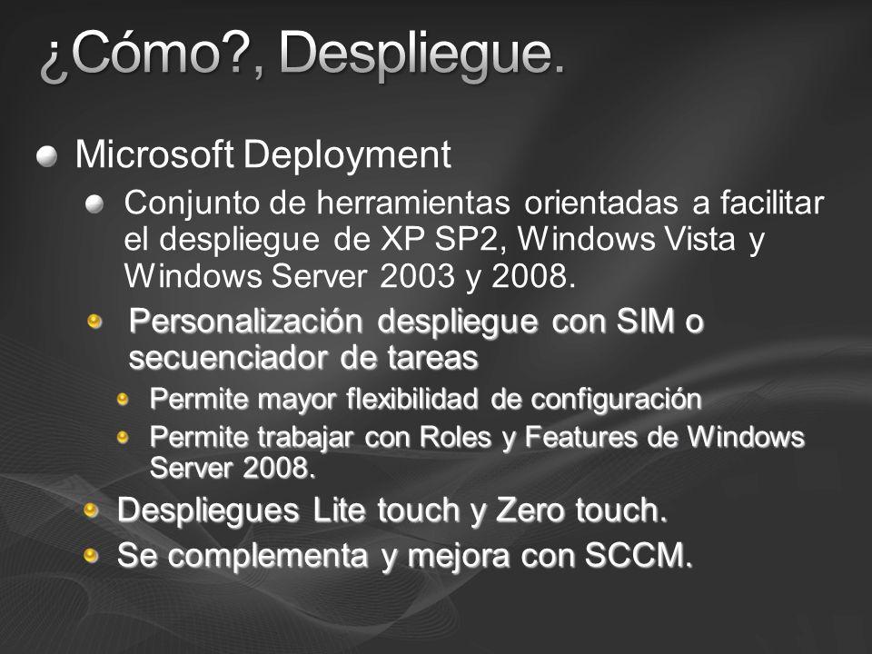 ¿Cómo , Despliegue. Microsoft Deployment