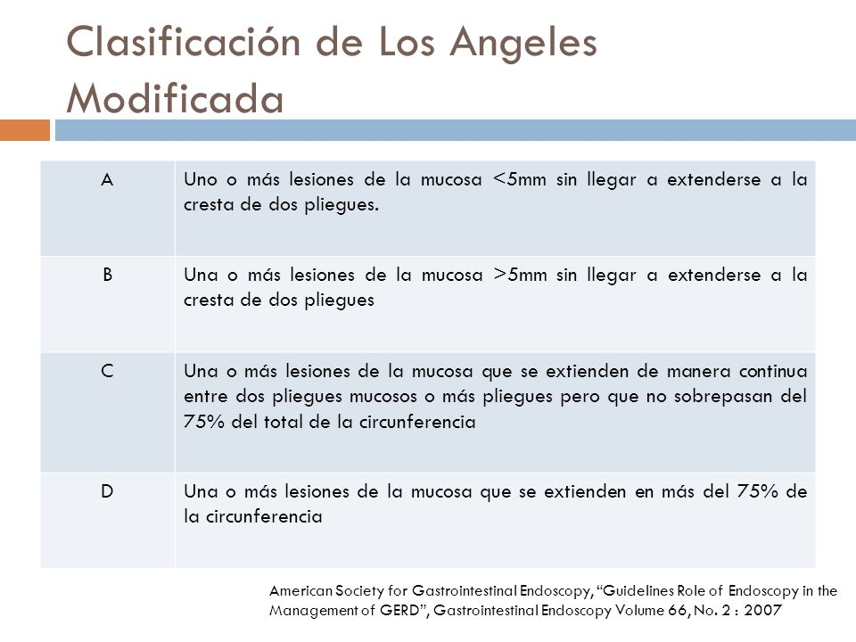 Clasificación de Los Angeles Modificada