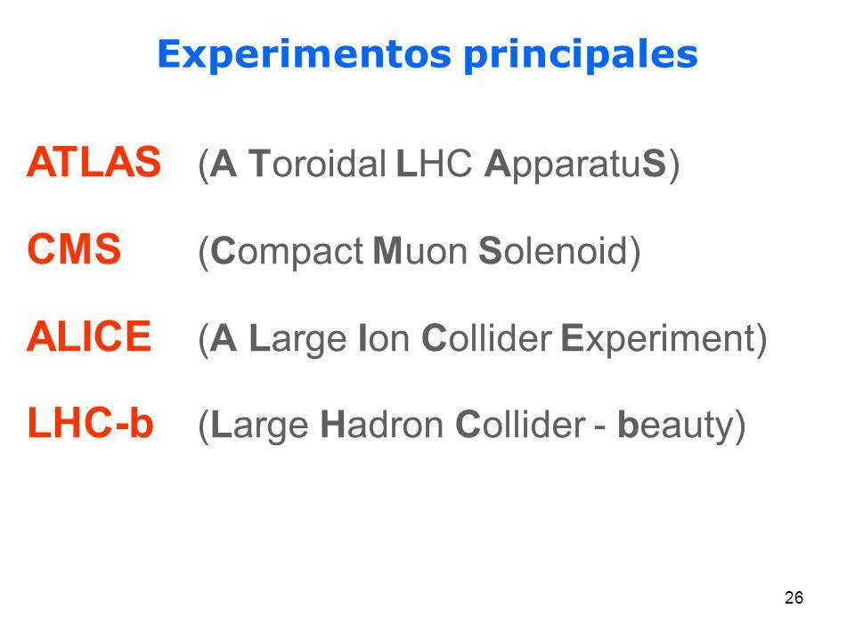 Experimentos principales