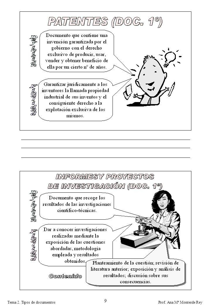 9 Tema 2. Tipos de documentos