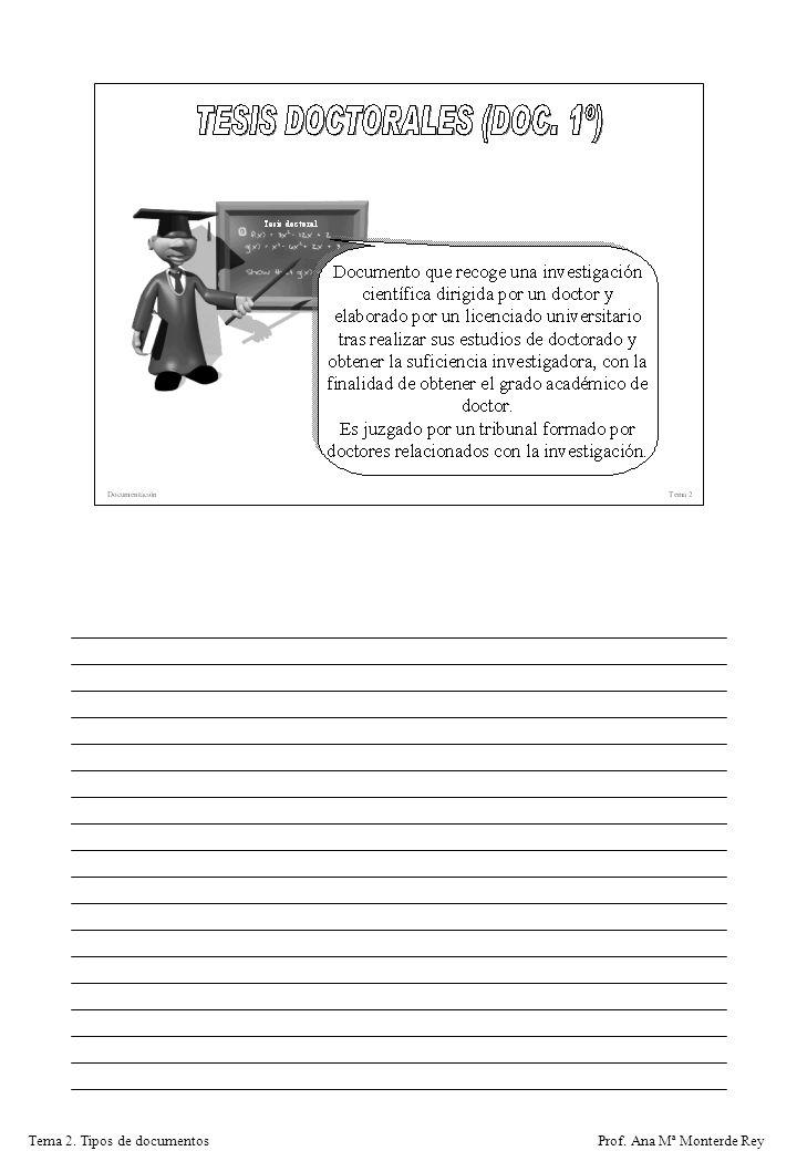 Tema 2. Tipos de documentos