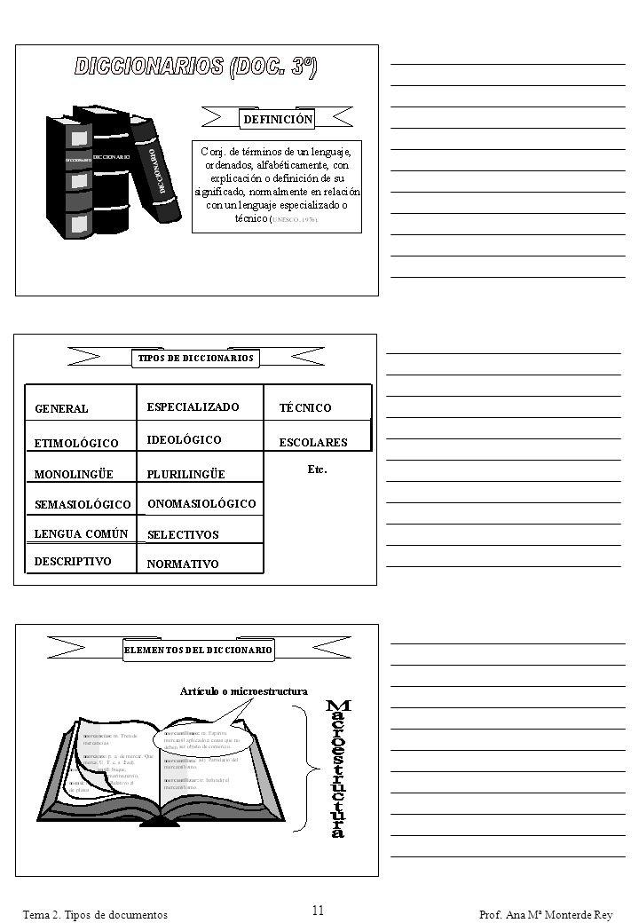 11 Tema 2. Tipos de documentos