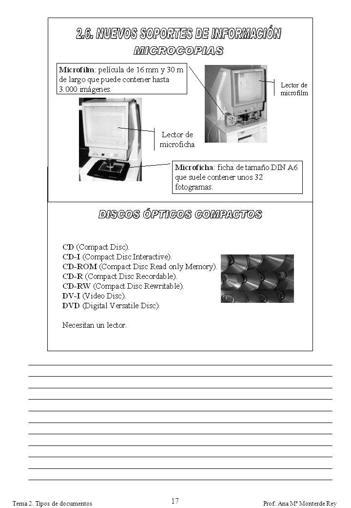 17 Tema 2. Tipos de documentos