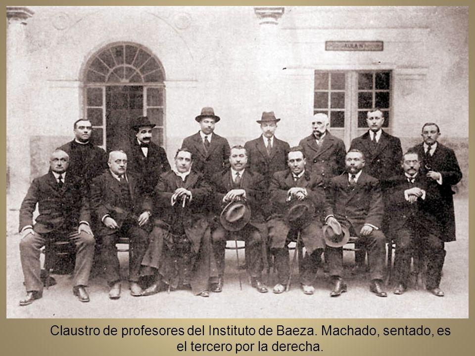Claustro de profesores del Instituto de Baeza