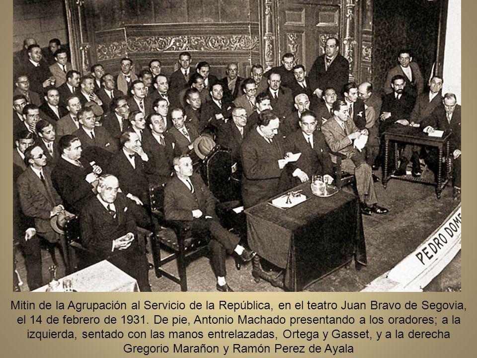 Mitin de la Agrupación al Servicio de la República, en el teatro Juan Bravo de Segovia, el 14 de febrero de 1931.