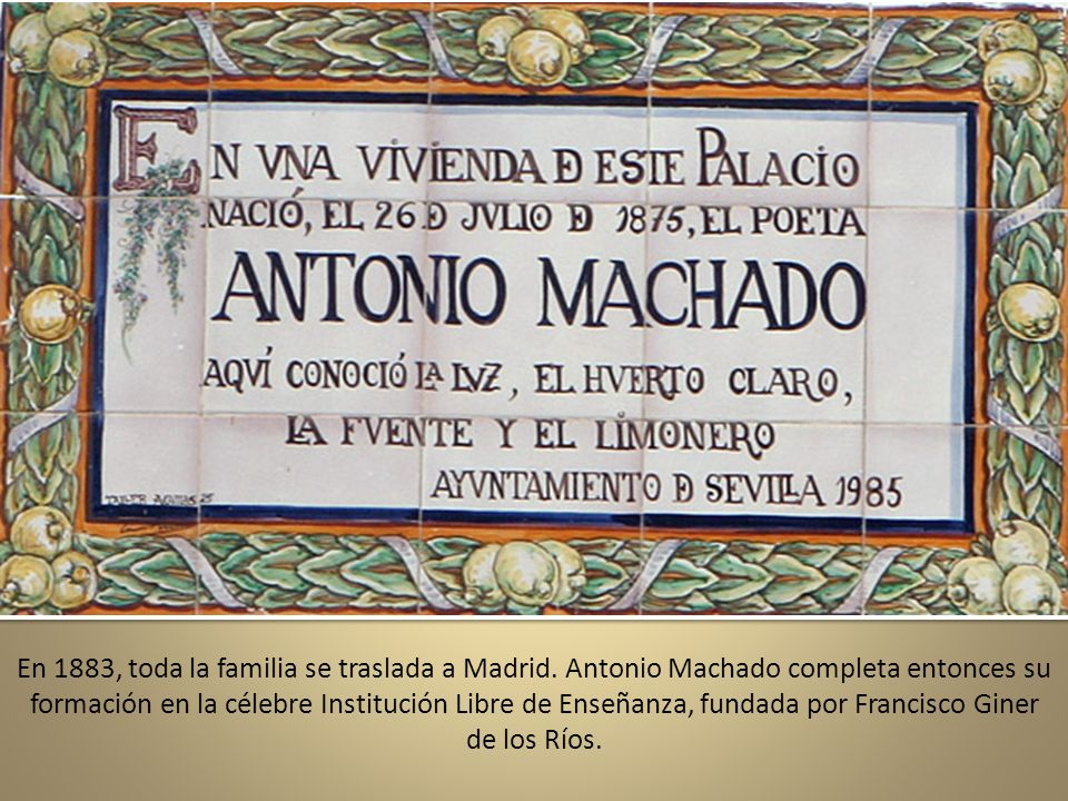 En 1883, toda la familia se traslada a Madrid