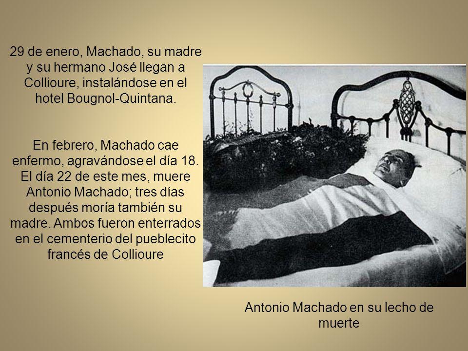 Antonio Machado en su lecho de muerte