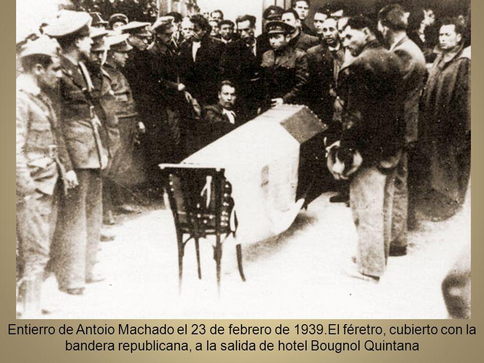 Entierro de Antoio Machado el 23 de febrero de 1939