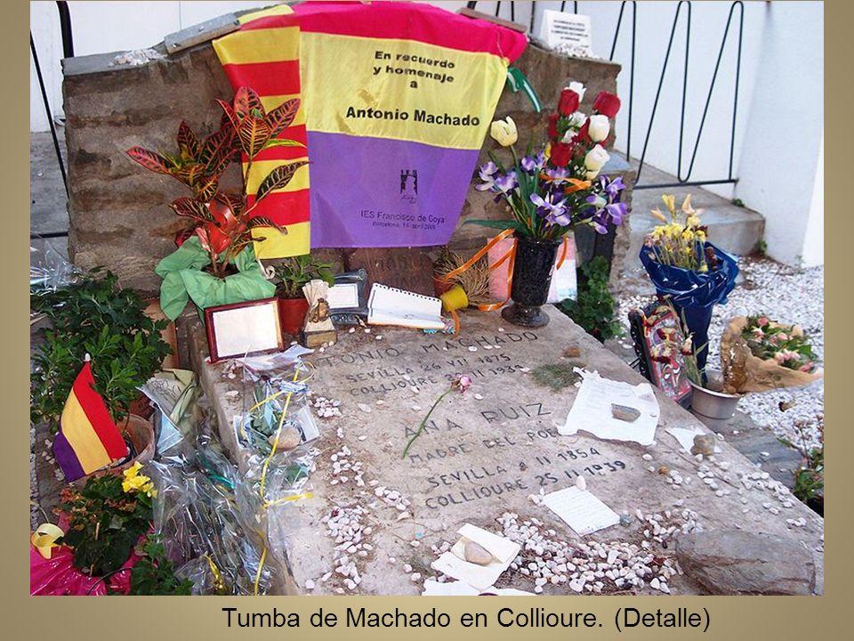 Tumba de Machado en Collioure. (Detalle)