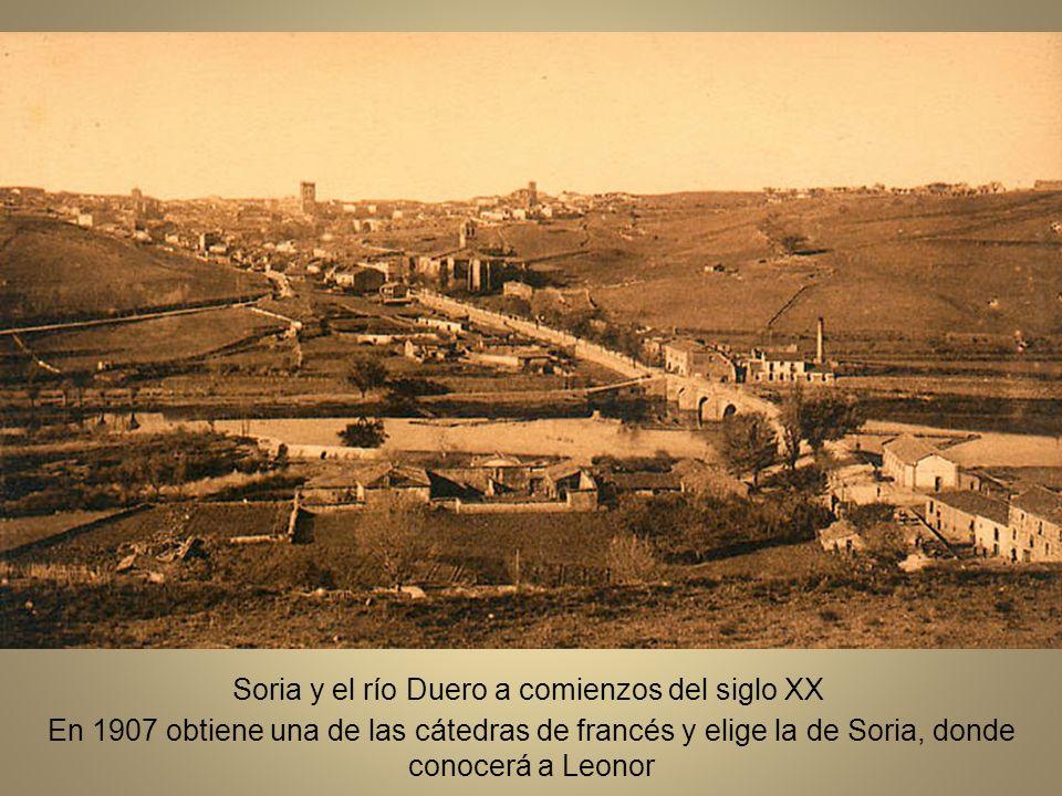 Soria y el río Duero a comienzos del siglo XX