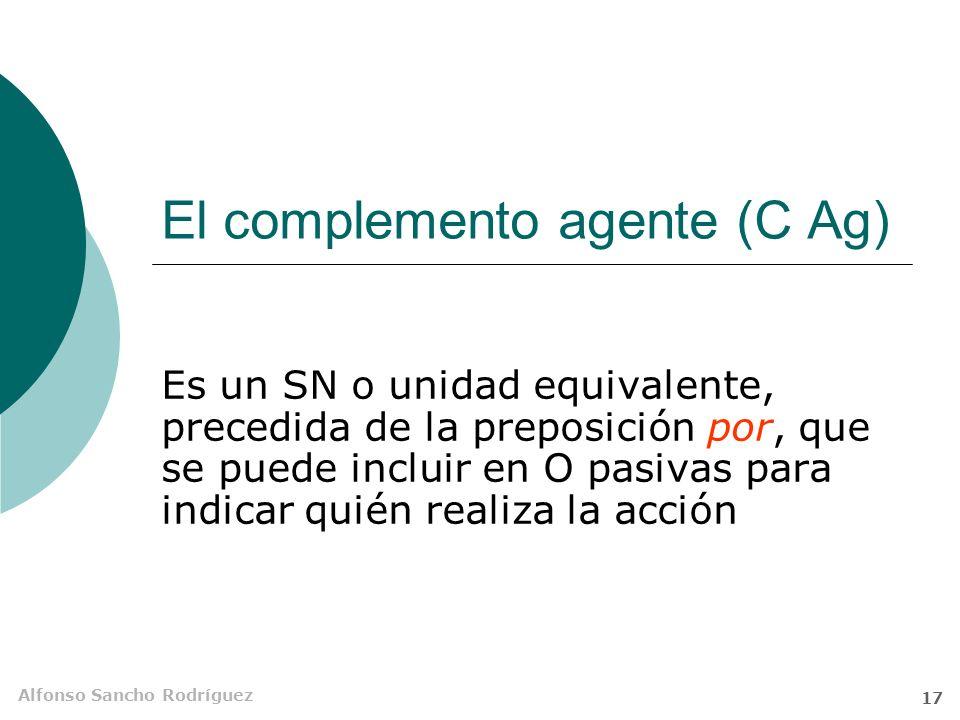 El complemento agente (C Ag)