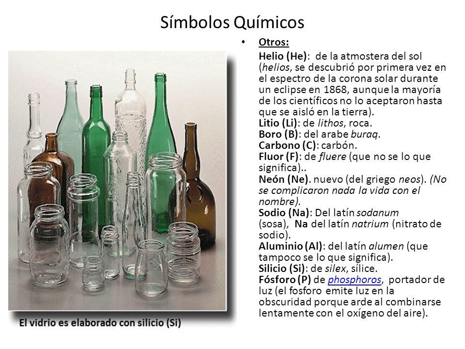 Símbolos Químicos Otros: