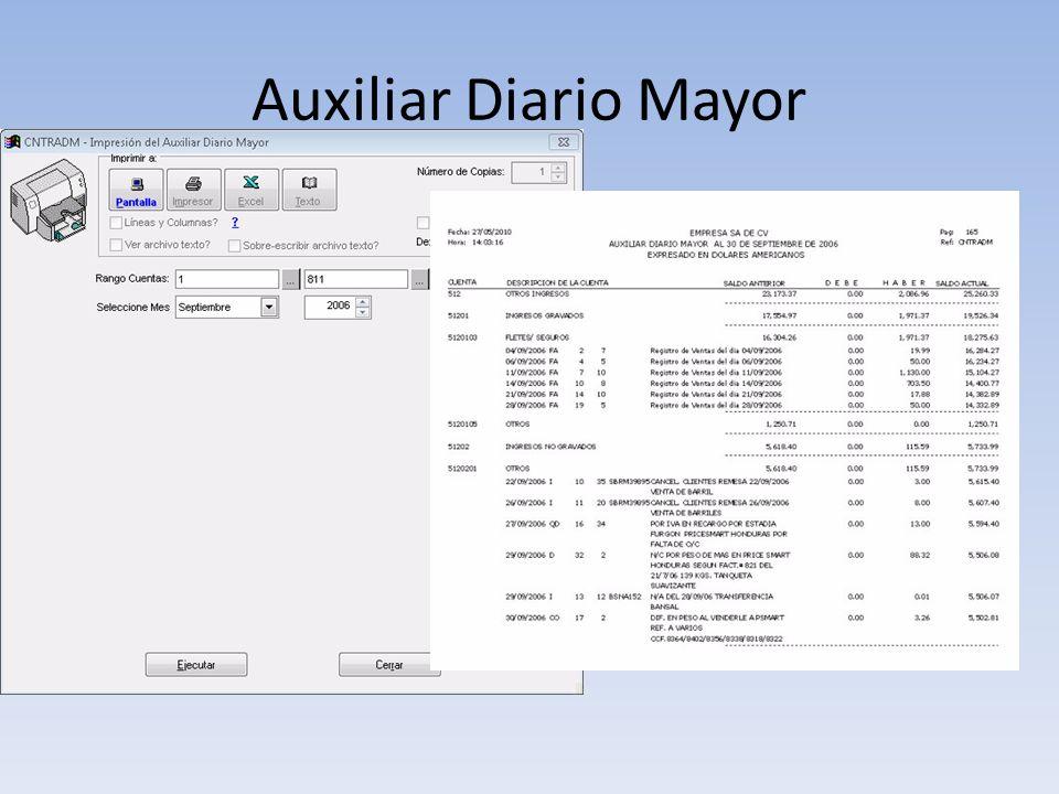 Auxiliar Diario Mayor