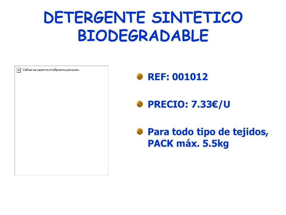 DETERGENTE SINTETICO BIODEGRADABLE