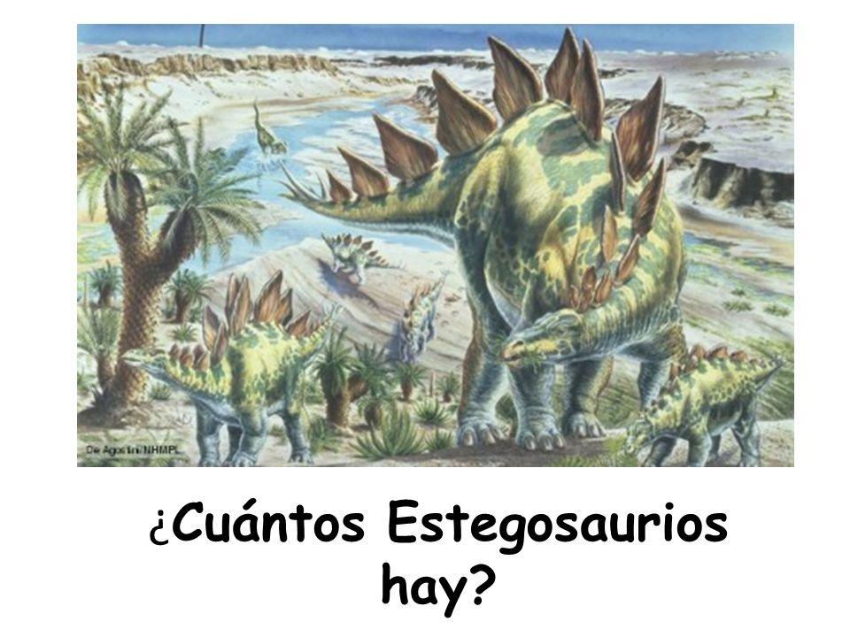 ¿Cuántos Estegosaurios hay