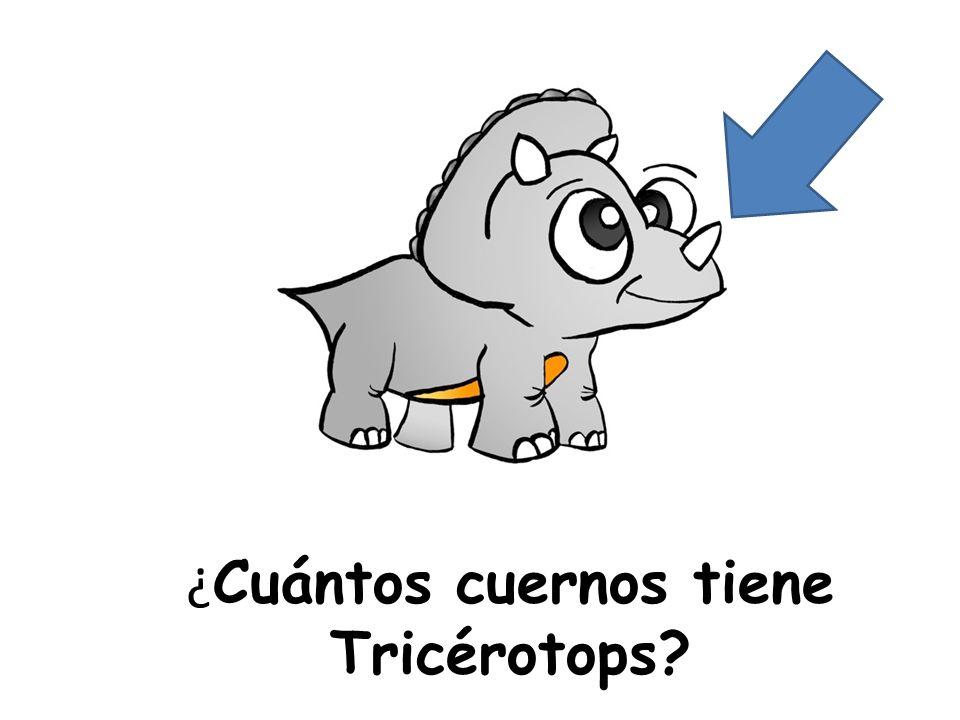 ¿Cuántos cuernos tiene Tricérotops