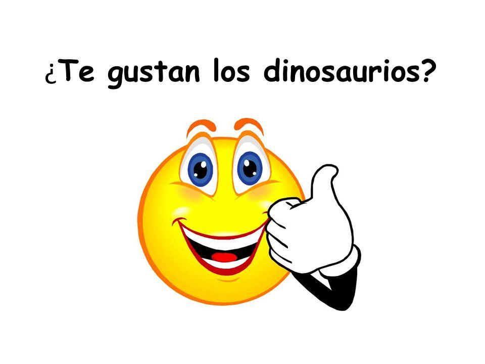 ¿Te gustan los dinosaurios