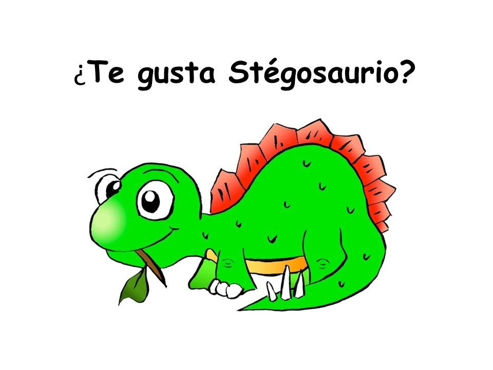 ¿Te gusta Stégosaurio