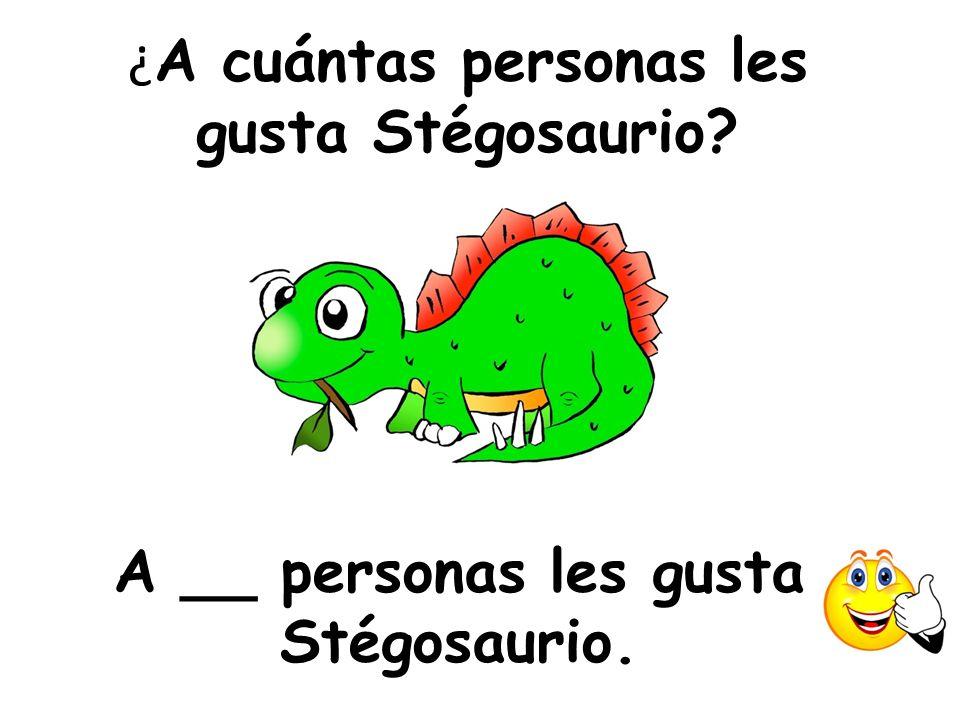 ¿A cuántas personas les gusta Stégosaurio