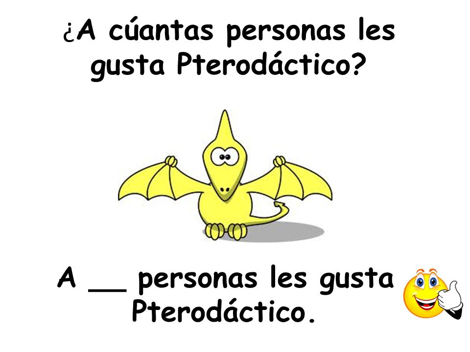 ¿A cúantas personas les gusta Pterodáctico