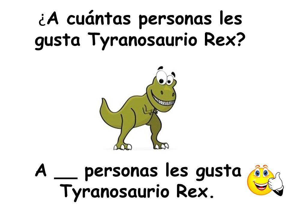 ¿A cuántas personas les gusta Tyranosaurio Rex