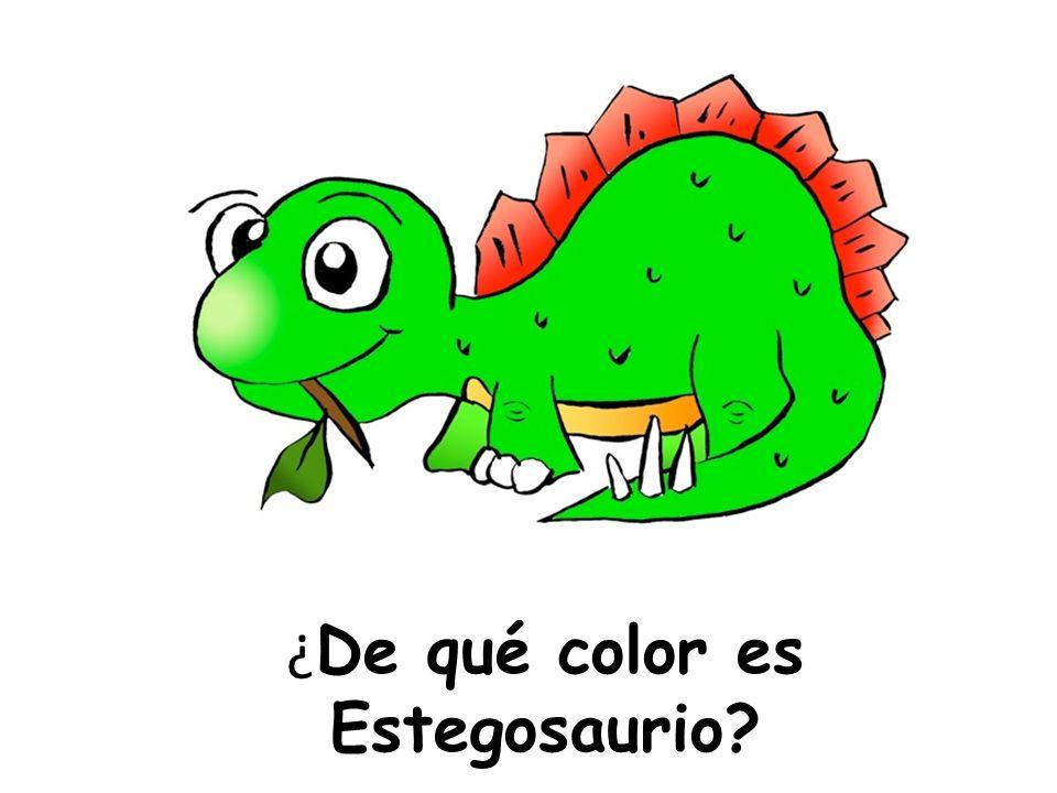 ¿De qué color es Estegosaurio