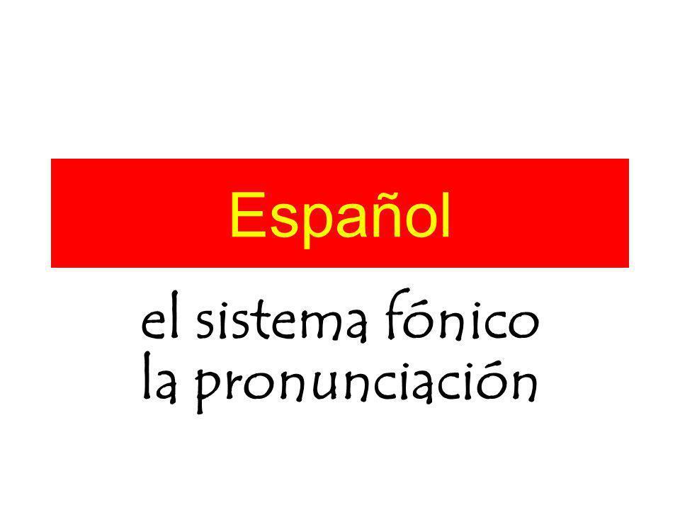 el sistema fónico la pronunciación