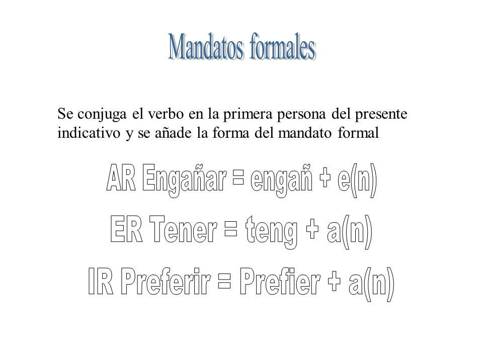 AR Engañar = engañ + e(n)