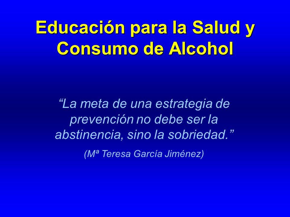 Educación para la Salud y Consumo de Alcohol