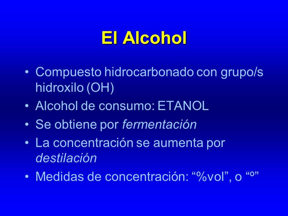 El Alcohol Compuesto hidrocarbonado con grupo/s hidroxilo (OH)