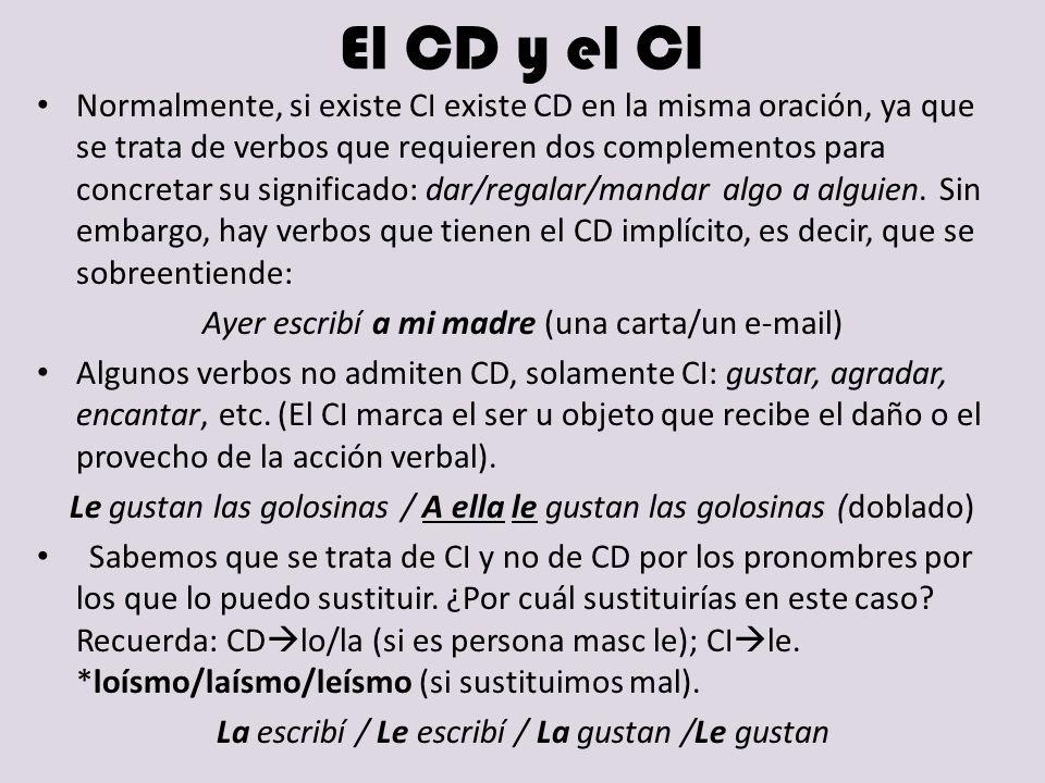 El CD y el CI