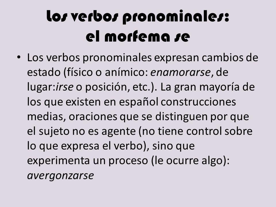 Los verbos pronominales: el morfema se