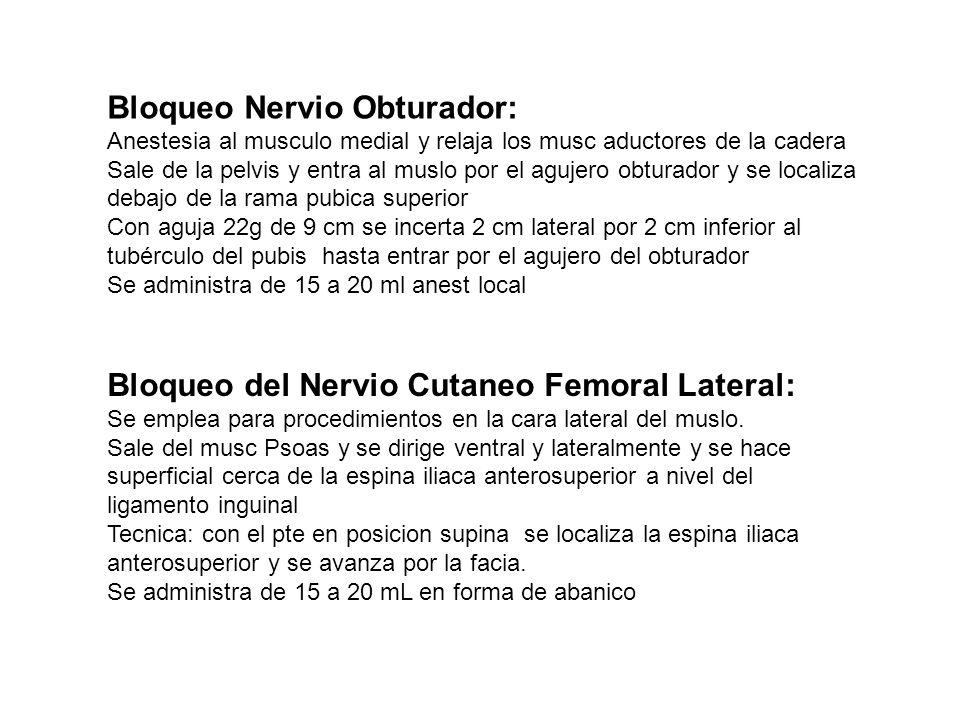 Bloqueo Nervio Obturador: