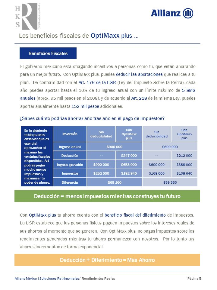 Los beneficios fiscales de OptiMaxx plus ...